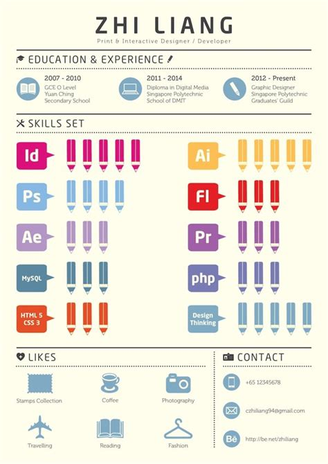 Resume Graphic Design Infographic 50 Awesome Resume Designs That Will Bag The Hongkiat