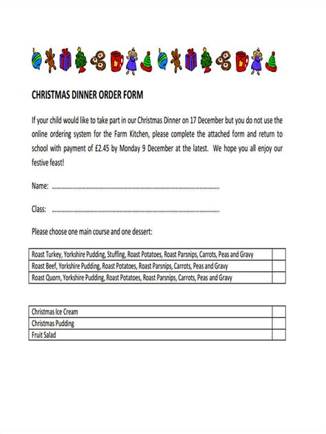 Dessert Order Form Template For Word Gallery Diagram Writing Sle And Guide Dessert Order Form Template