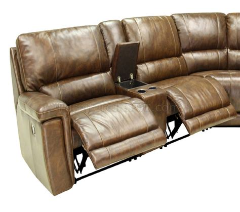 Leather Motion Sectional Sofa Hazelnut Leather 6pc Modern Motion Reclining Sectional Sofa