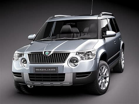 skoda yeti 2010 skoda yeti 2010 sedan car vehicles 3d models