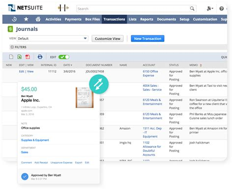 Expenditure Report Quickbooks by Netsuite Expense Reporting Software