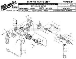 milwaukee 0228 1 parts list and diagram ser 689 1001 ereplacementparts