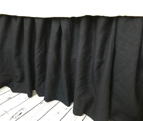 black bed skirt black linen gathered bed skirt black linen dust ruffle