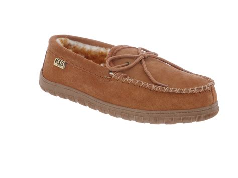 Cowhide Moccasins rj s fuzzies cowhide suede sheepskin leather lined moccasins ebay