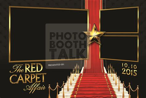 hollywood photo booth layout red carpet runway by ci creative photo booth talk
