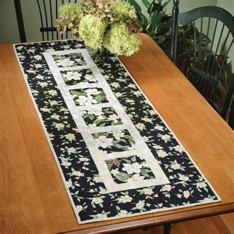 Garden Path Table Runner Quick Card Pattern By Dragonfly Fiberart Quilterswarehouse Com Table Runner Template