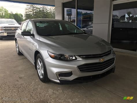 silver ls with white shades 2017 silver ice metallic chevrolet malibu ls 120640999