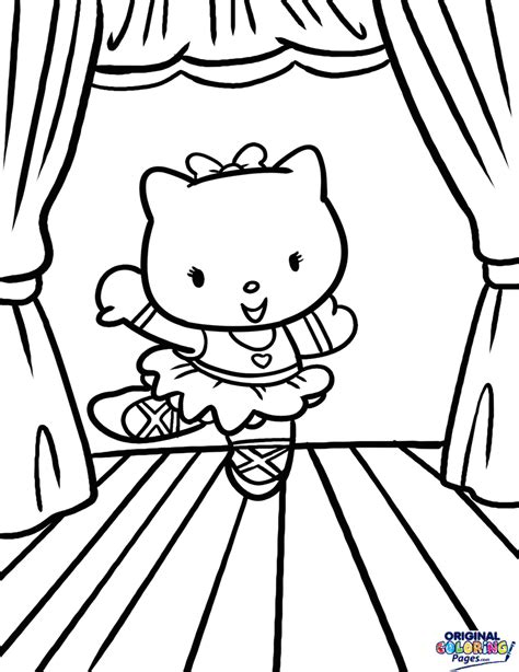 hello kitty dance coloring pages ballerina fifth position ballet coloring page hello kitty