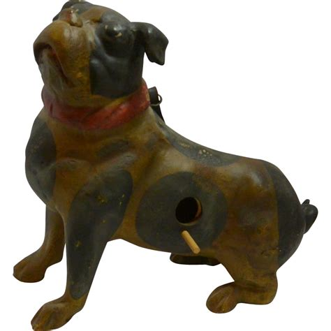 early pugs vintage pottery pug birdhouse early 1900 s from a dogs tale collectibles on ruby