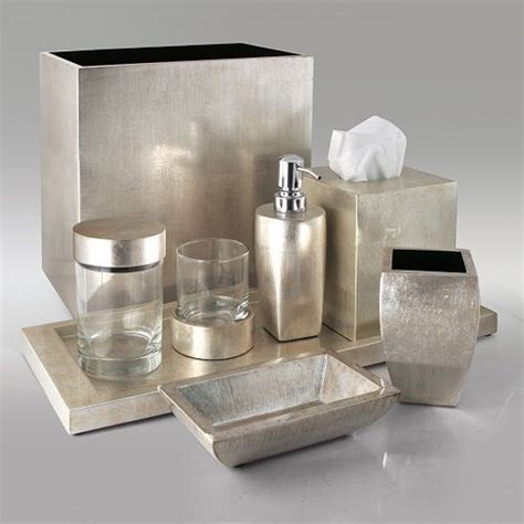 silver bathroom accessories sets gail deloach bath accessories gail deloach lacquer