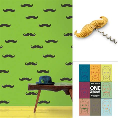 movember mustache decor popsugar home
