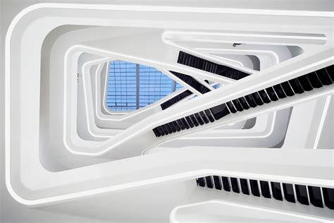Zaha Hadid Office by Moscow S Dominion Office Building Features A Trippy Atrium