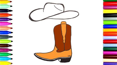 imagenes de botas vaqueras para imprimir como dibujar unas botas vaqueras dibujos para ni 241 os