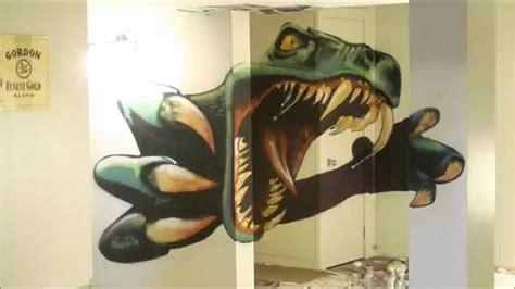 spray painter dino dinosaur timelapse spray paint