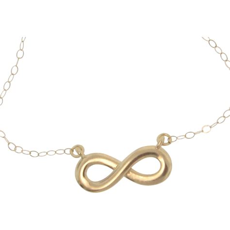 infinity necklace gold 14k gold reese witherspoon infinity necklace everlasting