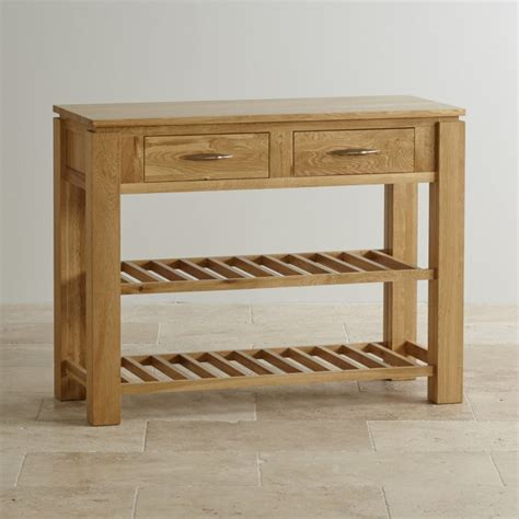 Storage Console Table Galway Solid Oak Storage Console Table