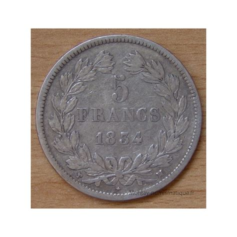 louis philippe möbel 5 francs louis philippe 1834 ma marseille montay
