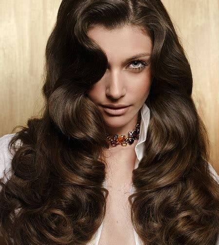 Women's Hairstyles: Chocolate Brown Wavy Volum Hair Color