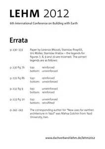 Errata Sheet Template by Lehm 2012 6th International Conference On Building With