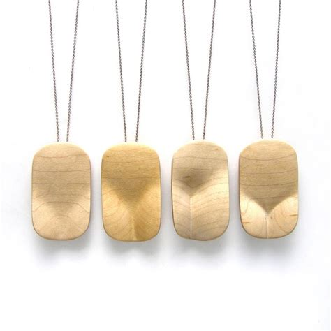 custom wood cleavage pendant chain