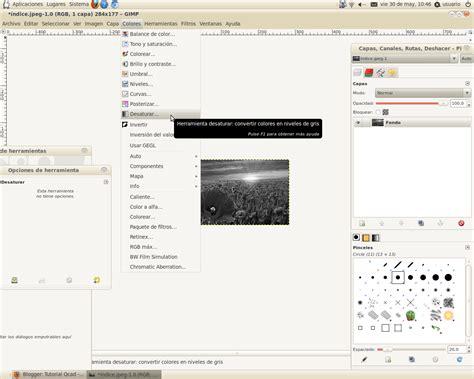 poner imagen blanco y negro gimp tutorial gimp blanco y negro