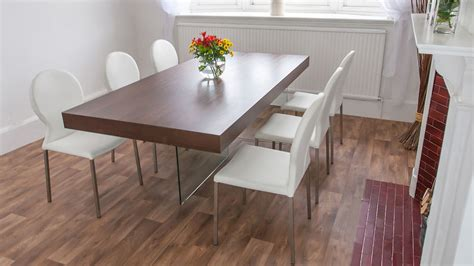 funky esszimmer sets chunky wood dining table glass legs retro