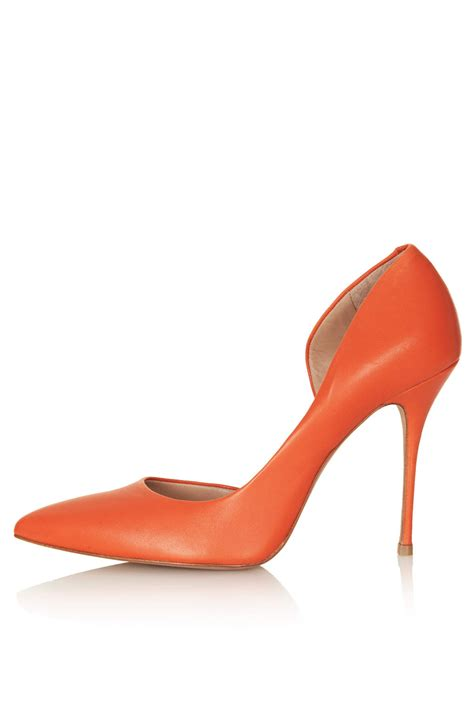 topshop leather high heel court shoes by kurt geiger in