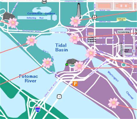 washington dc map tidal basin tidal basin cherry map