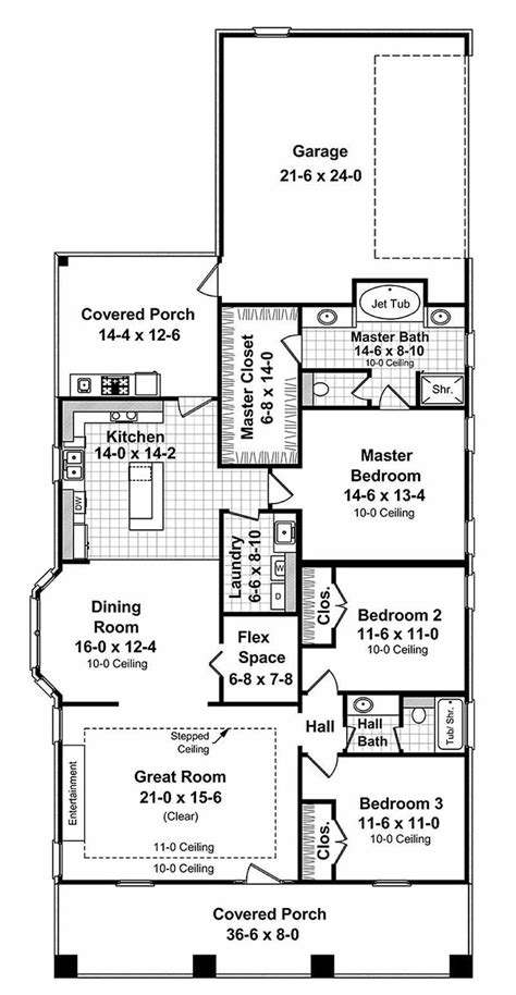 Narrow Lot House Plans With Rear Garage by Craftsman Style House Plan 3 Beds 2 Baths 1800 Sq Ft