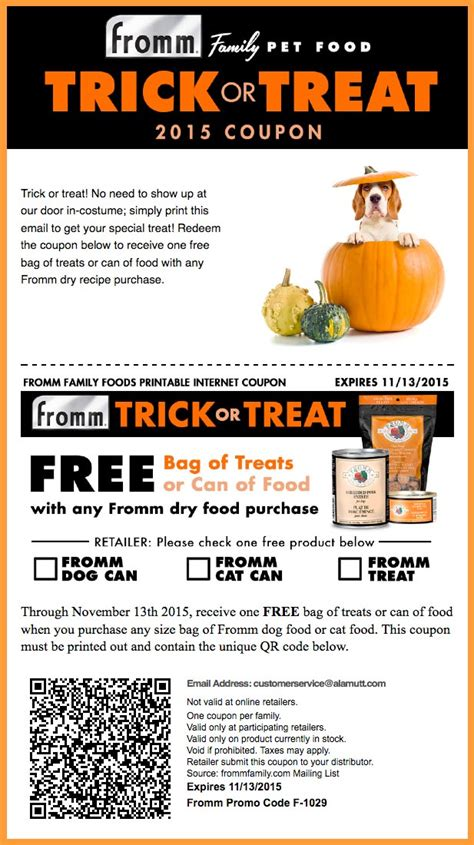 fromm dog food coupons printable 224 la resources
