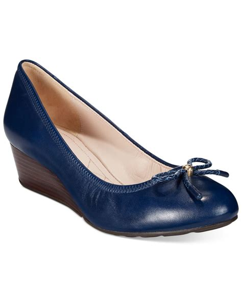 Slip On Tali Wedges cole haan tali grand wedges in blue blazer blue lyst