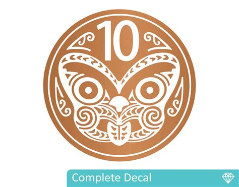 Huge Wall Murals nz 10 cent coin your decal shop nz designer wall art