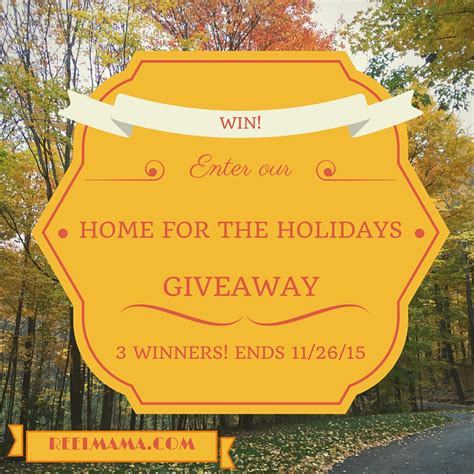 Holiday Giveaway 2nd Chance - home for the holidays prize pack giveaway 3 winners