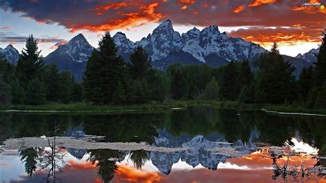 reflection mountains lake  phone wallpapers
