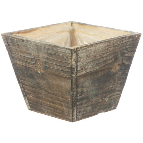 Wood Square Planter by 5 Quot Square Wooden Planter Wd385 Mardigrasoutlet