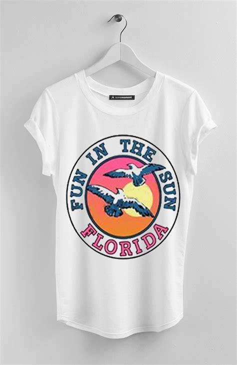 in the sun florida white t shirt