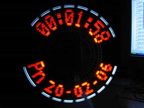 Jm Lu Led Colok analog digital propeller clock