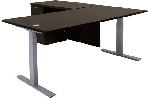Electric Lift Height Adjustable L Shaped Desks Desk Height Adjusters