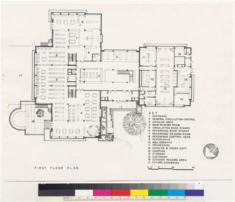 library floor plans kettering college calisphere dominican college library first floor plan