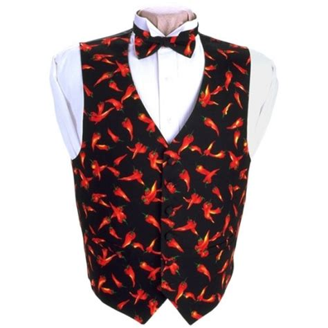 Chili Vest chili peppers vest and bow tie set