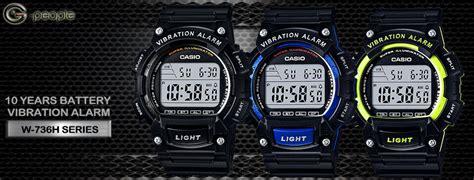 Casio Original Series W 736h 2a Casio Original For Mens Casio W 736h 1av Vibration Alarm Watch Original Ebay