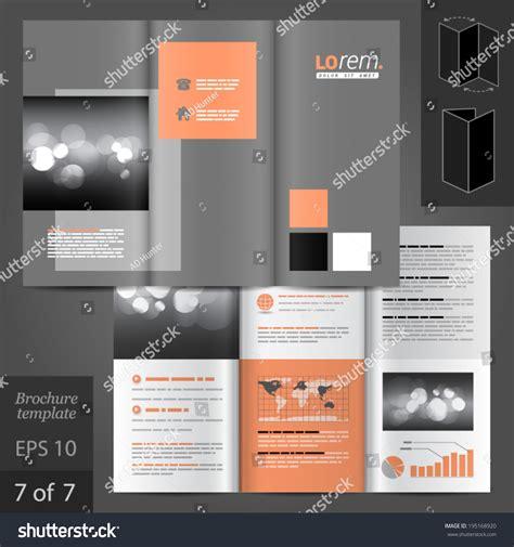 design elements for brochure classic vector brochure template design square stock