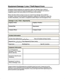 sles of incident reports 15 damage report templates free sle exle format