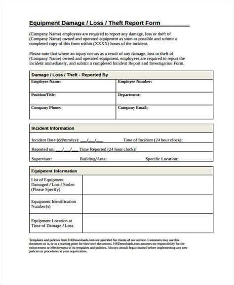 damage report template damage report form template pictures to pin on