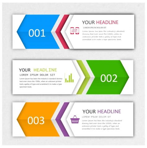 hairstyle banner design modern style infographic banner design sets vectors stock