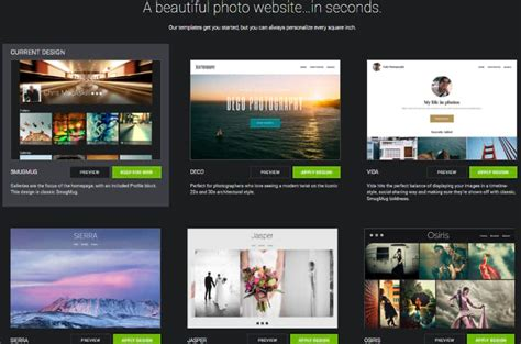 smugmug templates 10 best photography website builder 2019 reviews