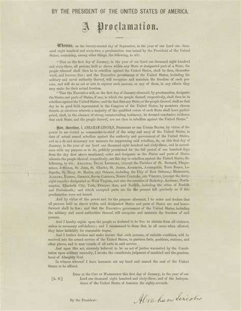 Emancipation Proclamation   Race and Racism-Of Mice and Men Emancipation Proclamation Actual Document