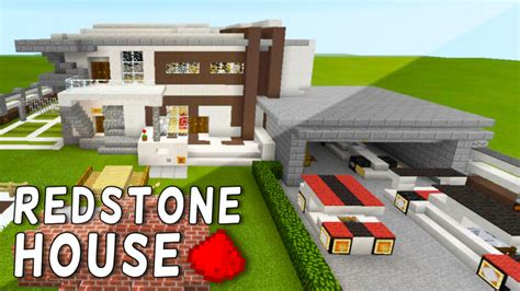 how to build a redstone house redstone house in mcpe bonus map in the download minecraft blog