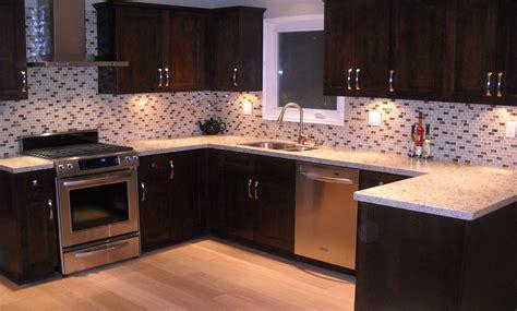 interior blue tile backsplash and brown wooden kitchen cabinet appliances loversiq 22 best dark ikea kitchen cabinets with dark floor blue