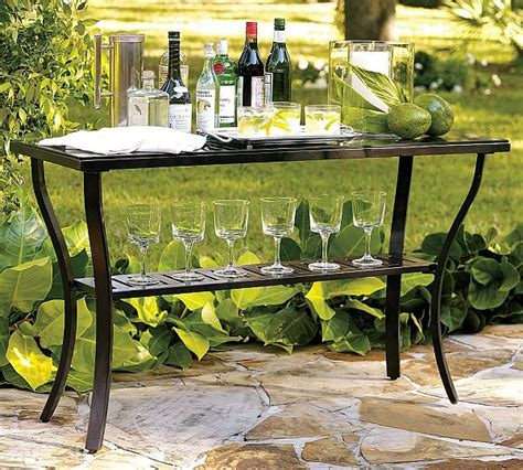 Outdoor Console Table Useful Outdoor Riviera Console Table